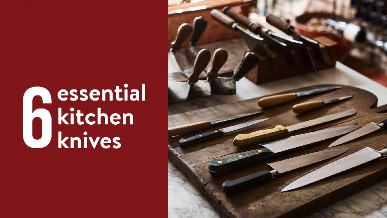 Điểm mặt 6 loại dao cơ bản trong làm bếp